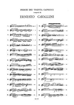 Ernesto Cavallini: 30 Capricci: Clarinet