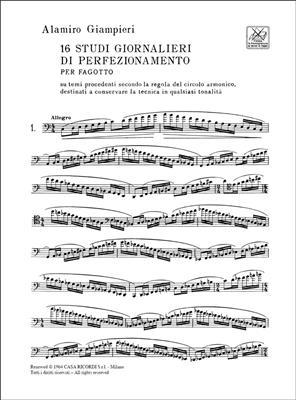 Alamiro Giampieri: 16 Studi Giornalieri Di Perfezionamento: Bassoon