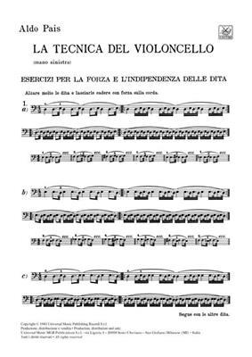 A. Pais: Tecnica del violoncello: Cello