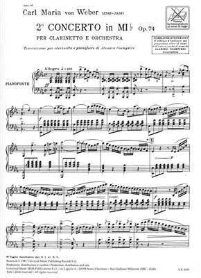 Carl Maria von Weber: Concerto N. 2 In Mi Bem. Op. 74: Clarinet