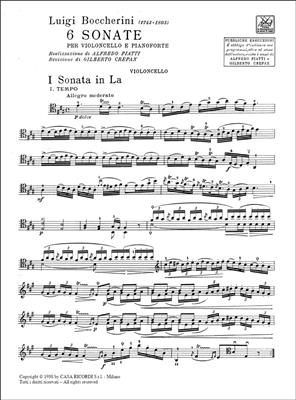 Luigi Boccherini: 6 Sonate: Cello
