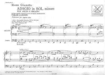 Tomaso Albinoni: Adagio in sol minore: Organ