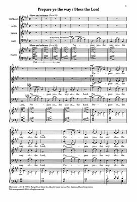 Stephen Schwartz: Gospel Choruses From Godspell And Children Of Eden: SATB