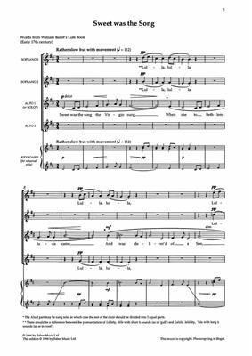Benjamin Britten: Three Carols: 2-Part Choir