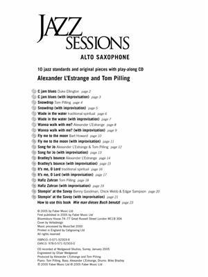 Alexander L'Estrange: Jazz Sessions: Saxophone