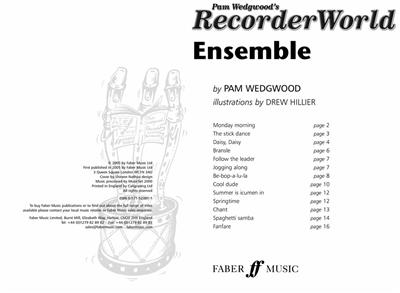 Pam Wedgwood: RecorderWorld Ensemble: Descant Recorder