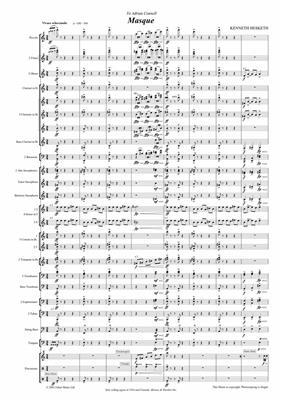 Kenneth Hesketh: Masque. Wind band: Concert Band