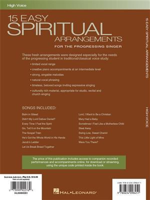 15 Easy Spiritual Arrangements: Vocal