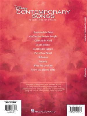 Disney Contemporary Songs : Vocal and Piano