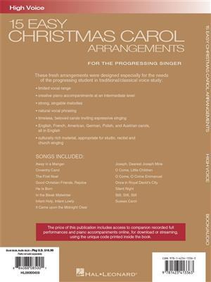 15 Easy Christmas Carol Arrangements (High Voice): High Voice