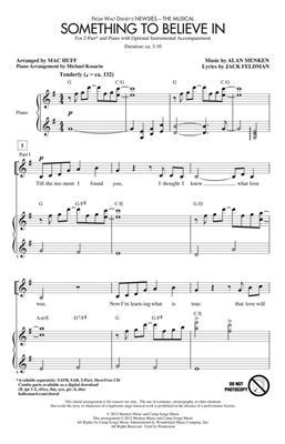 Alan Menken: Something To Believe In: Arr. (Mac Huff): 2-Part Choir
