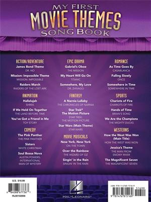 My First Movie Themes Songbook: Easy Piano