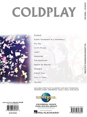 Coldplay: Coldplay - Tenor Saxophone: Tenor Saxophone