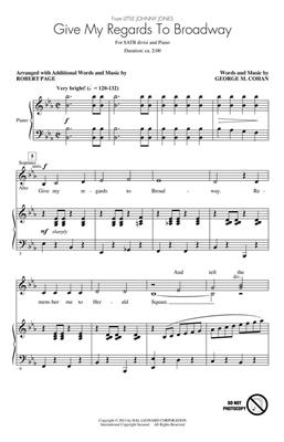 George M. Cohan: Give My Regards to Broadway: Arr. (Robert Page): SATB