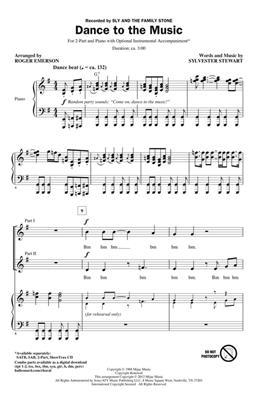 Sylvester Stewart: Dance to the Music: Arr. (Roger Emerson): 2-Part Choir