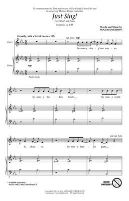 Roger Emerson: Just Sing!: 2-Part Choir
