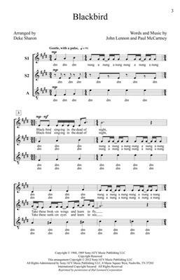 Deke Sharon: Blackbird: Women's Choir