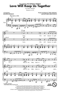 Howard Greenfield: Love Will Keep Us Together: Arr. (Roger Emerson): 2-Part Choir