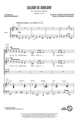 Hal Leonard: Lullaby Of Birdland