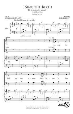 John Purifoy: I Sing the Birth: SATB