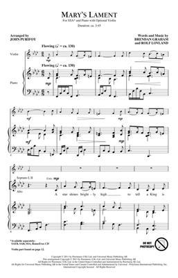 Brendan Graham: Mary's Lament: Arr. (John Purifoy): Upper Voices a Cappella
