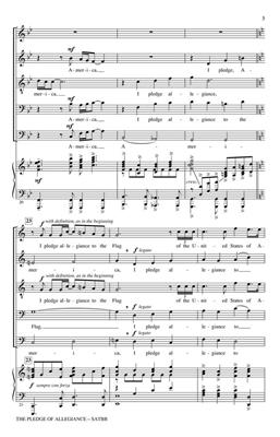 Francis Bellamy: The Pledge of Allegiance: Arr. (Larry Hochman): SATB