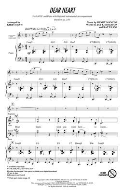 Henry Mancini: Dear Heart: Arr. (Kirby Shaw): SATB
