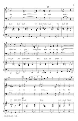 Henry Mancini: Dear Heart: Arr. (Kirby Shaw): SAB