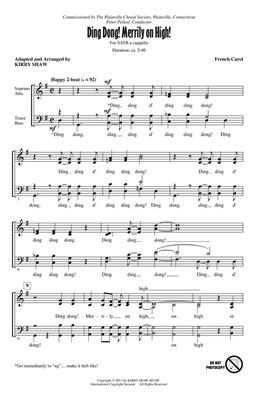 Ding Dong! Merrily on High!: Arr. (Kirby Shaw): SATB