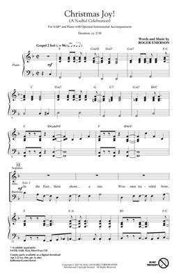 Roger Emerson: Christmas Joy!: SAB