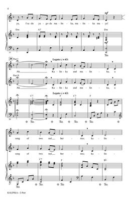 Traditional: Kalinka: Arr. (Audrey Snyder): 2-Part Choir