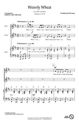 Weevily Wheat: Arr. (Cristi Cary Miller): 2-Part Choir