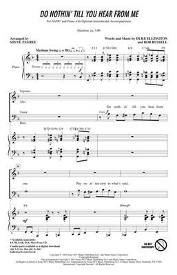 Duke Ellington: Do Nothin' Till You Hear from Me: Arr. (Steve Zegree): Mixed Choir a Cappella