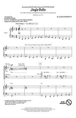 James Pierpont: Jingle Bells: Arr. (David Foster): SAB