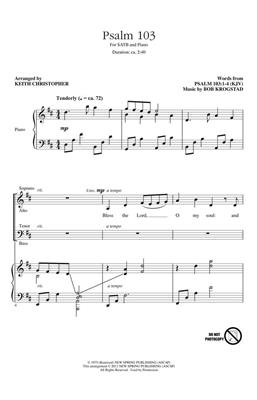 Bob Krogstad: Psalm 103: Arr. (Keith Christopher): SATB