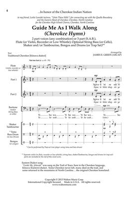 Traditional: Guide Me As I Walk Along: Arr. (James Green): 2-Part Choir