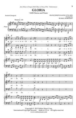 Franz Joseph Haydn: Gloria: Arr. (Russell L. Robinson): Mixed Choir a Cappella