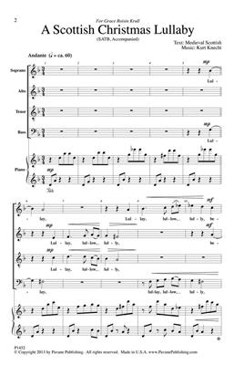Kurt Knecht: A Scottish Christmas Lullaby: SATB