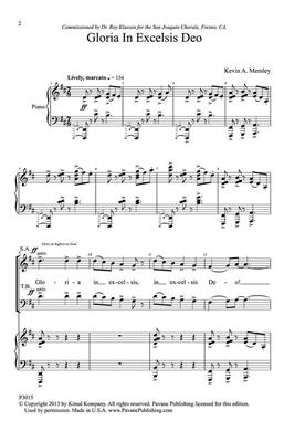 Kevin Memley: Gloria in Excelsis Deo: SATB