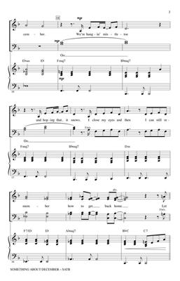 Christina Perri: Something About December: Arr. (Mac Huff): SATB