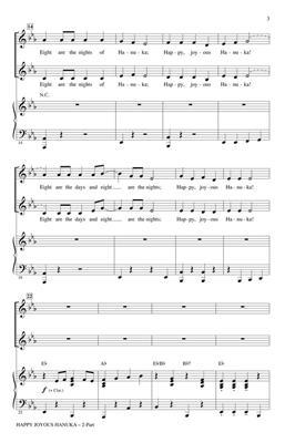 Lorin Sklamberg: Happy Joyous Hanuka: Arr. (Mac Huff): 2-Part Choir