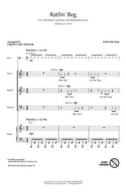 Traditional: Rattlin' Bog: Arr. (Cristi Cary Miller): 3-Part Choir