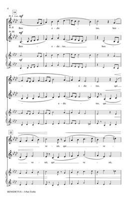 Sixtus Dietrich: Benedictus: Arr. (Jill Friedersdorf): 3-Part Choir