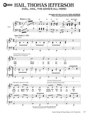 John Jacobson: Super Songs and Sing-Alongs: US Presidents