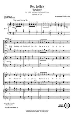 Traditional: Deck the Halls: Arr. (John Purifoy): SATB