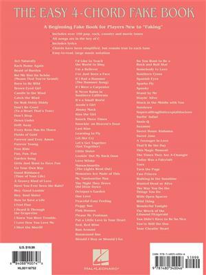 The Easy 4-Chord Fake Book: Melody, Lyrics & Chords