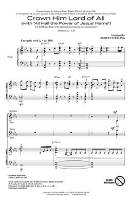 Oliver Holden: Crown Him Lord of All: Arr. (Robert Sterling): SATB