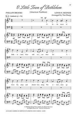 An Early American Service of Lessons and Carols: Arr. (Tim Sharp): SATB