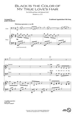 Traditional: Black Is the Color of My True Love's Hair: Arr. (John Purifoy): SATB