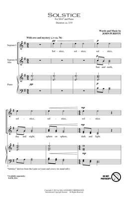 John Purifoy: Solstice: SSA